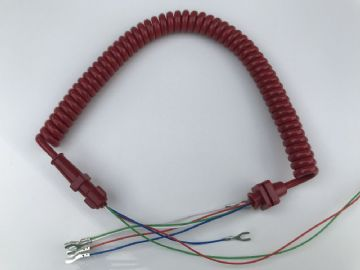 GPO Lacquer Red Telephone Handset Cable